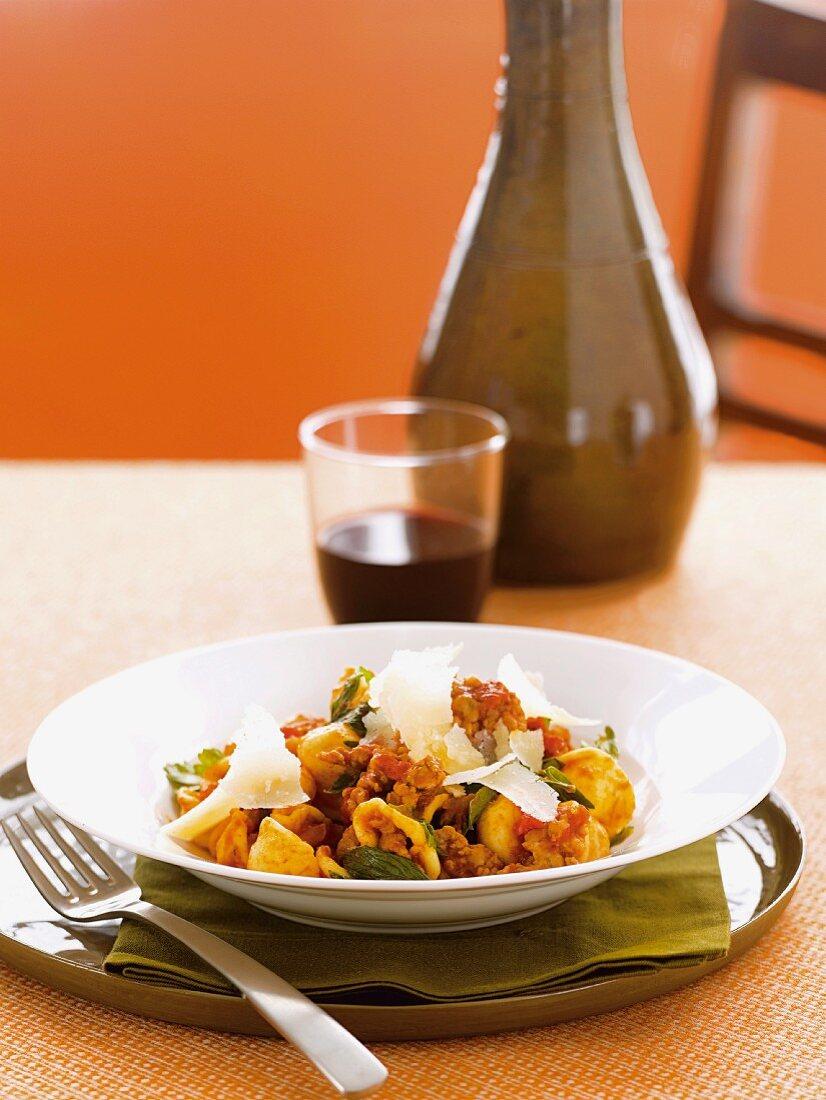 Orecchiette alla potentina (pasta with Italian fennel sausage)