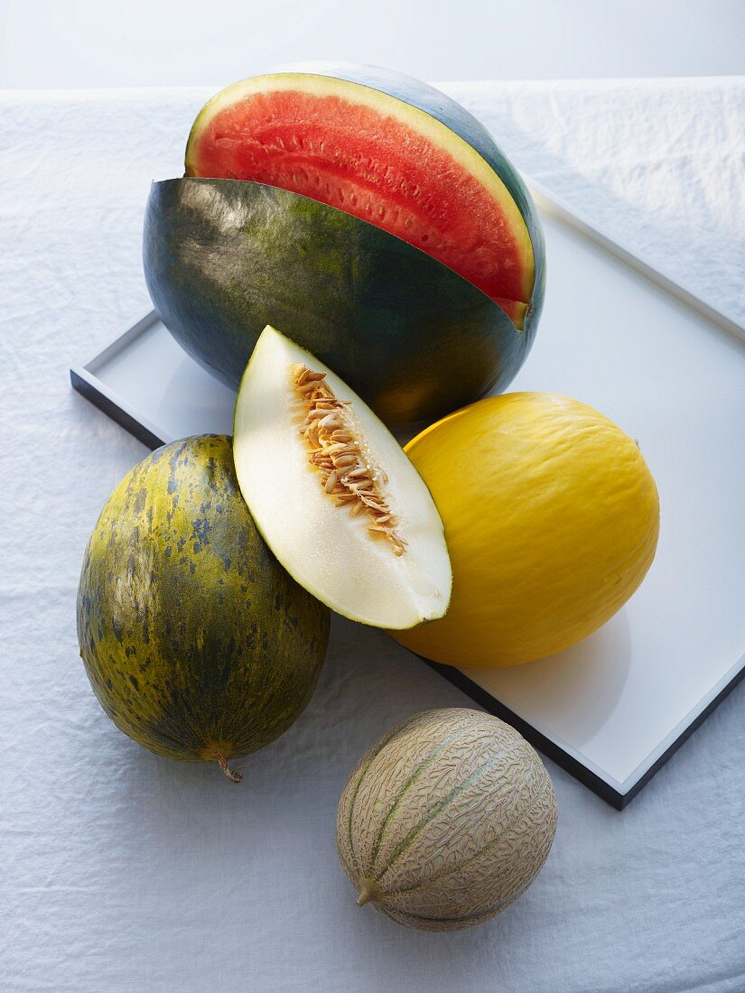 Various types of melons