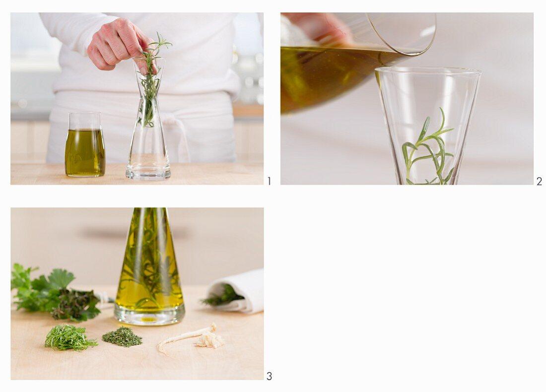 Making herb oil