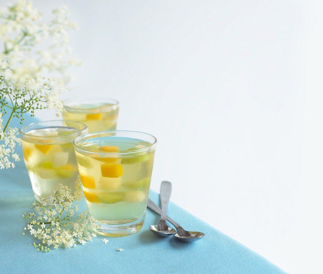 Elderflower jelly with fruit