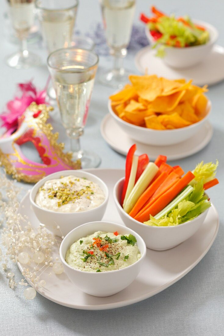 Crudites with dips