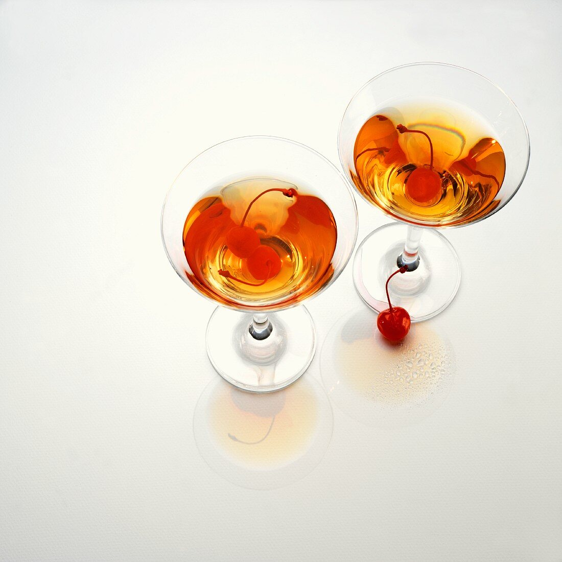 Martinis with cherries
