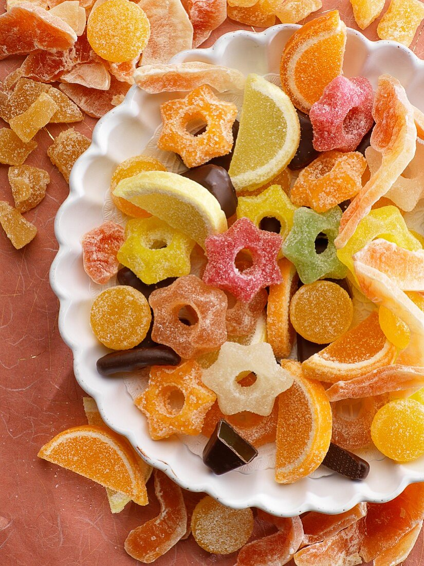 An arrangement of sweets