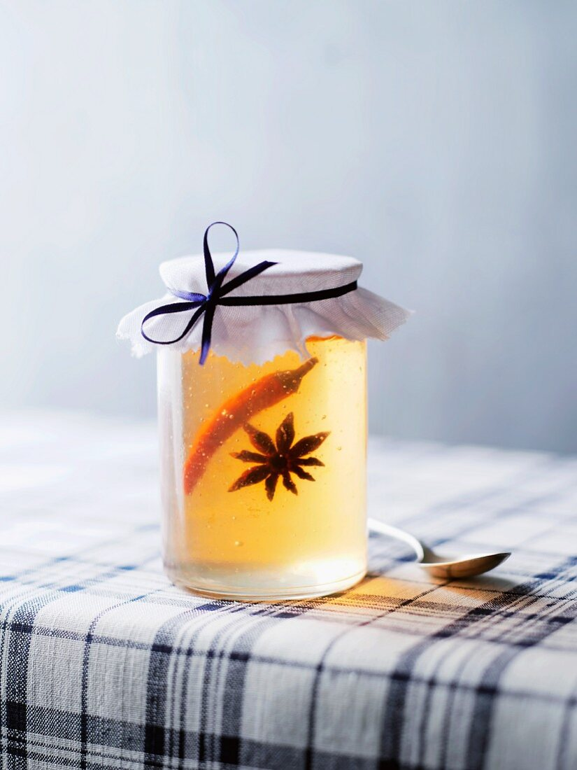 Apple jelly with chilli and star anise