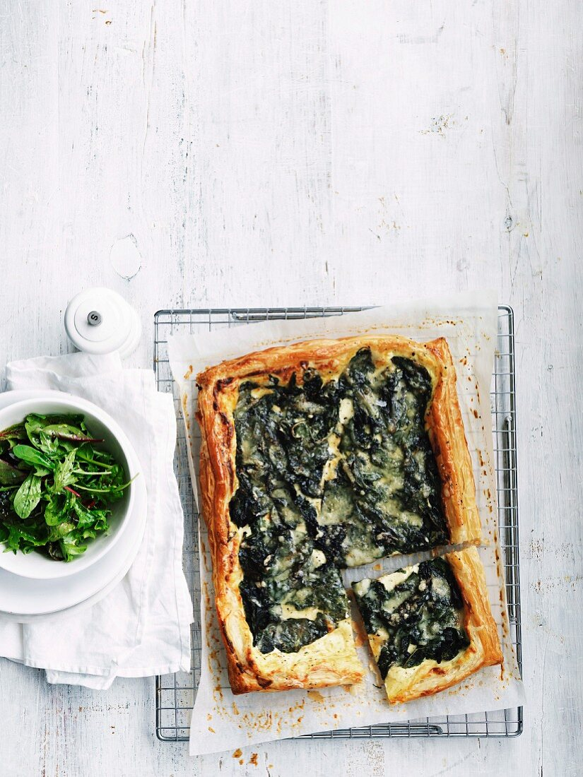 Mangold and ricotta tart
