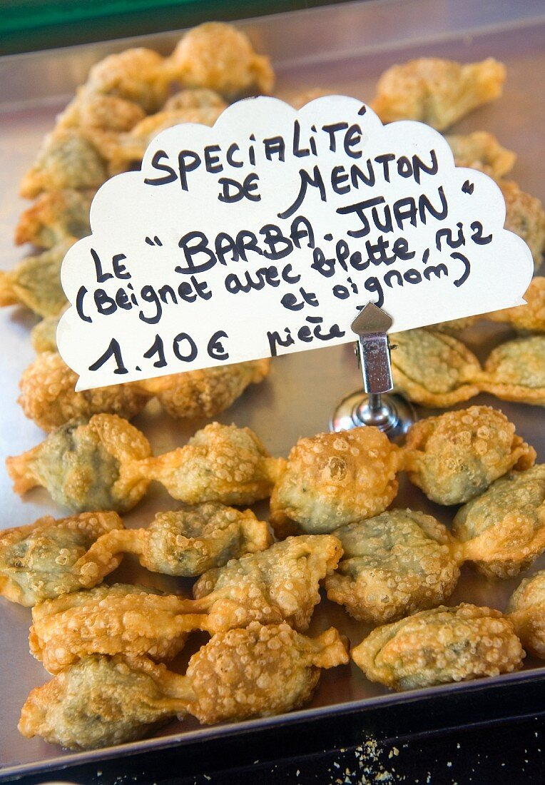 Barbajuan (spicy filled beignets, France)