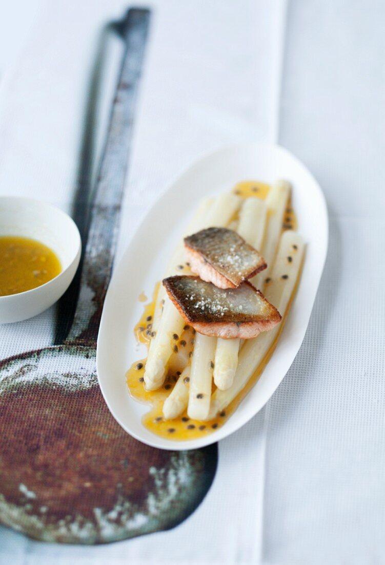 Asian asparagus with fried char