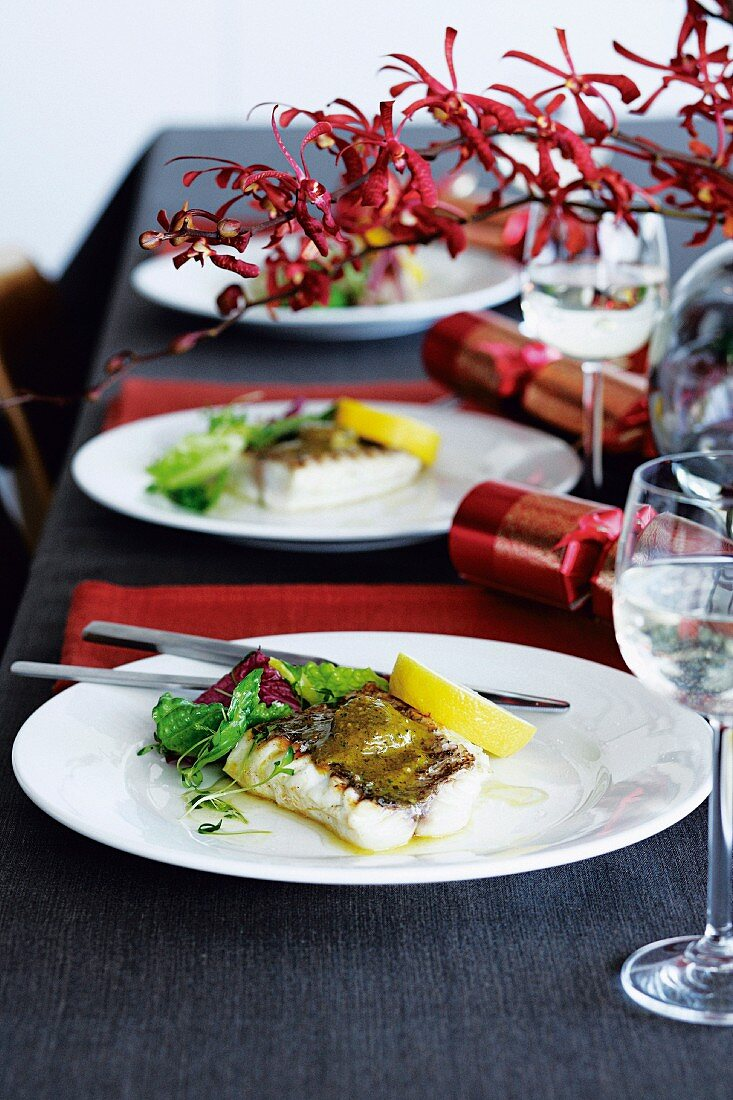 Snapper with curry butter