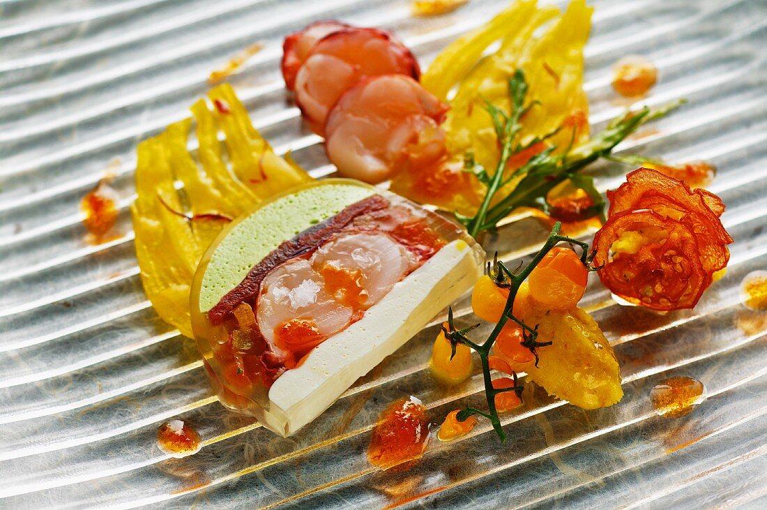 Lobster parfait with saffron fennel