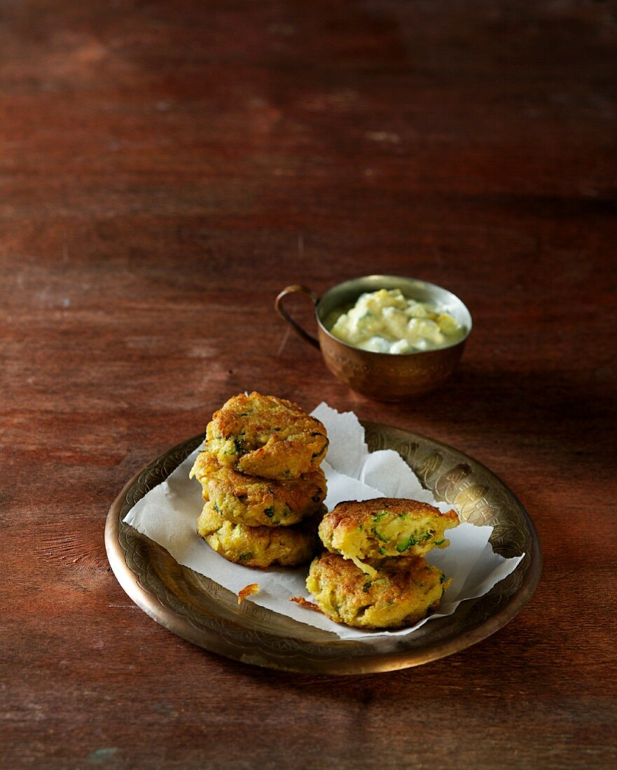 Chickpea fritters (Ayurvedic cuisine)