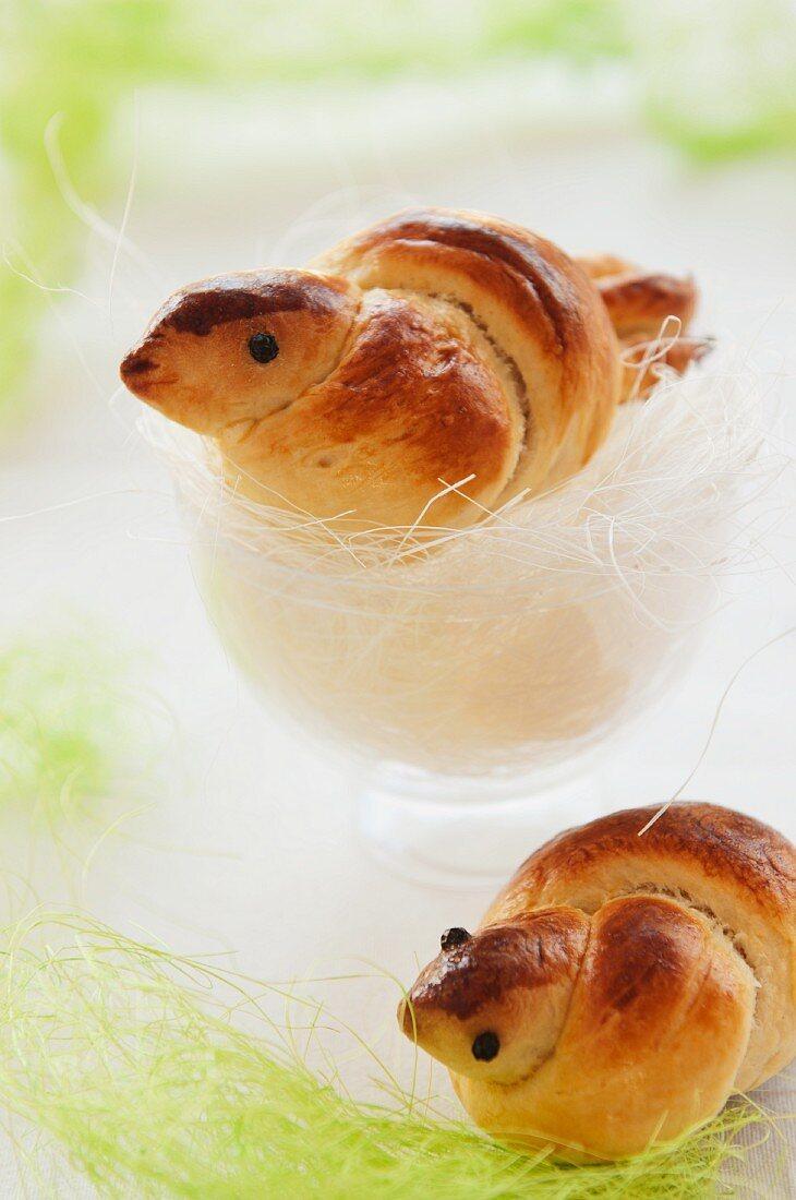Mini bread birds