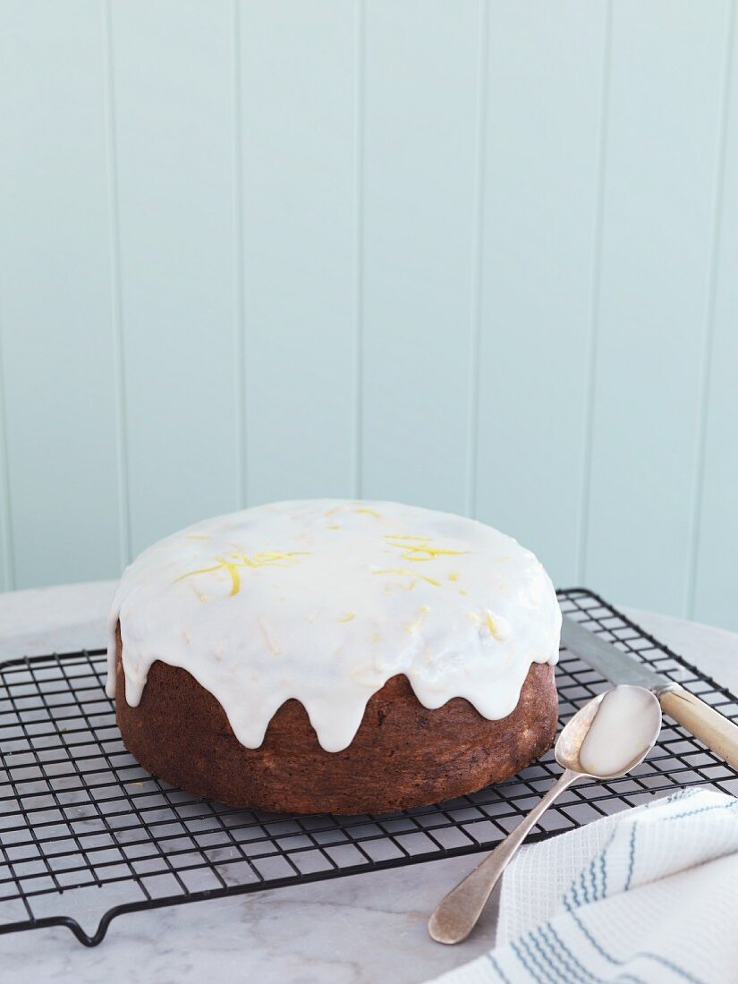 A feijoa and coconut cake