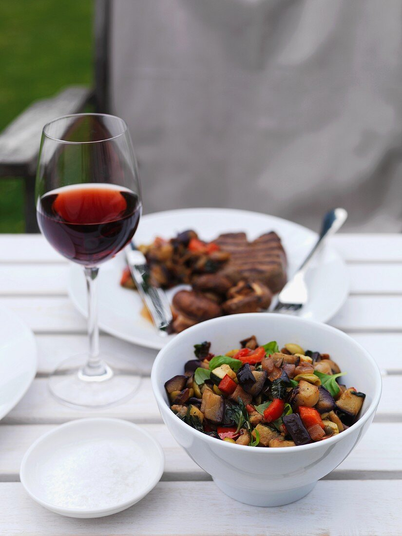 Caponata (Sweet and sour aubergine stew, Italy)