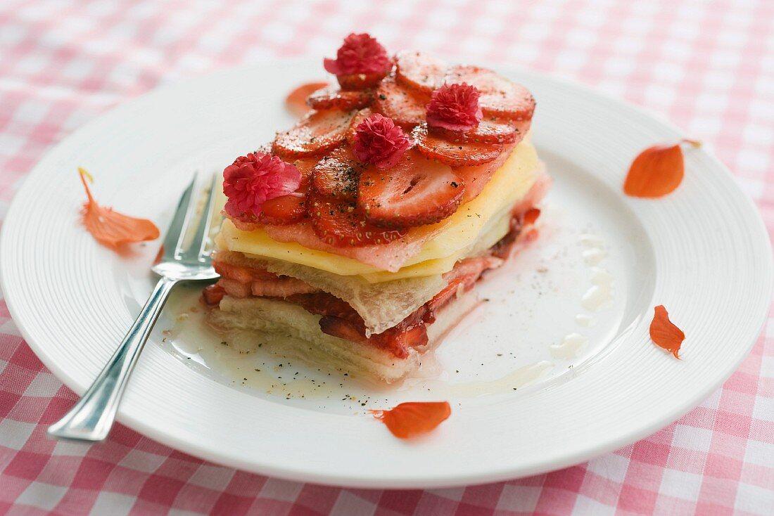 Fruit lasagne