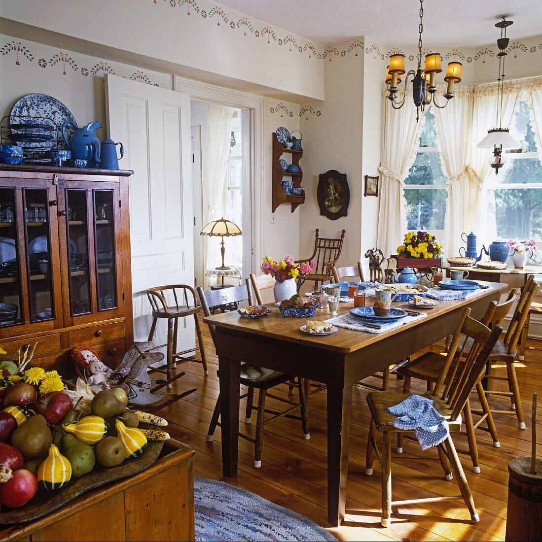 A Victorian dining room in a country house