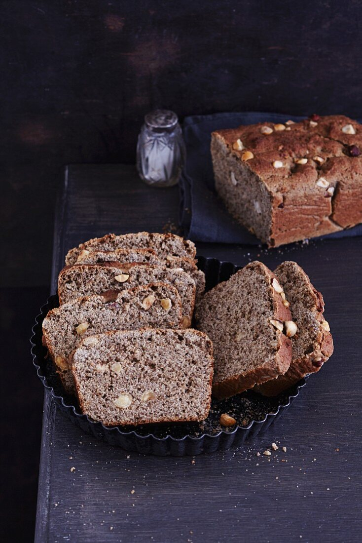 Gluten-free sour dough bread with teff and canihua