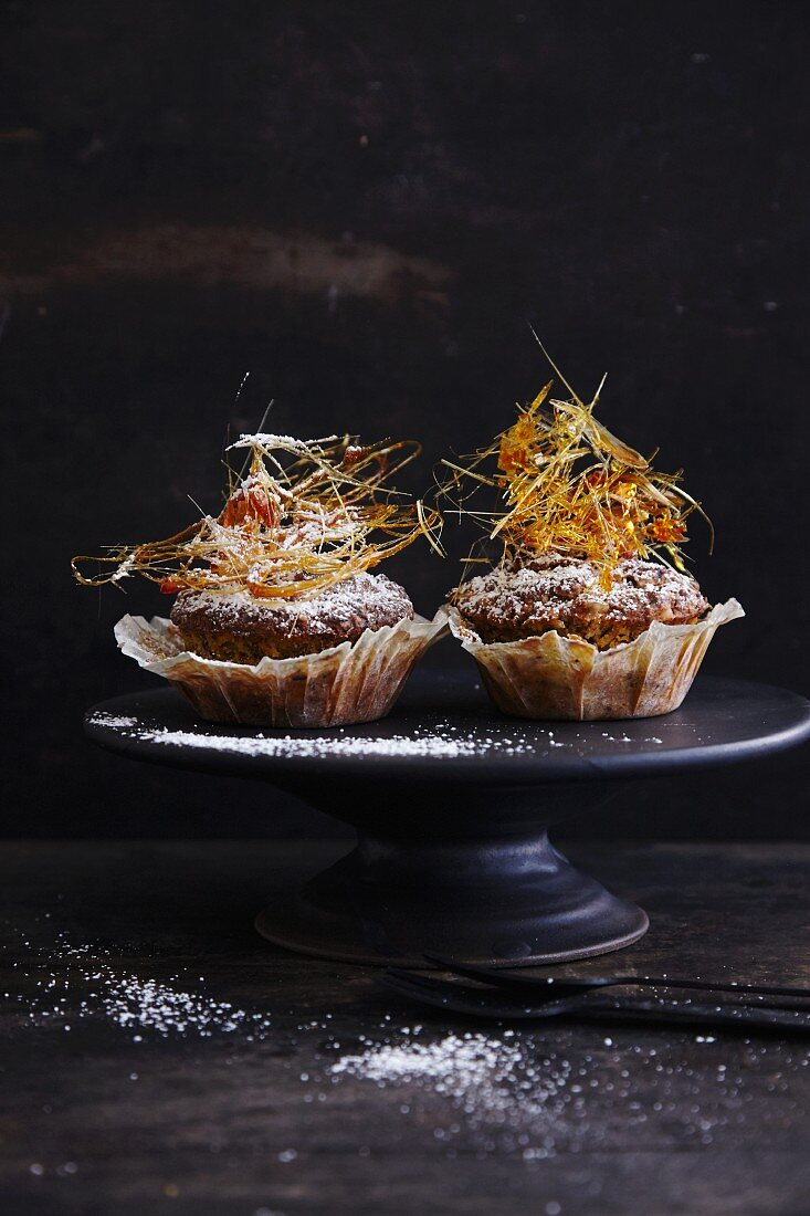 Gluten-free carrot mushrooms with caramel nests