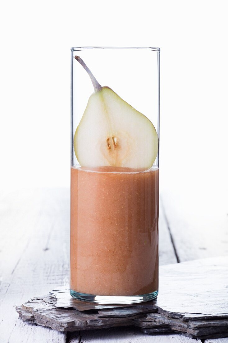 A pear smoothie