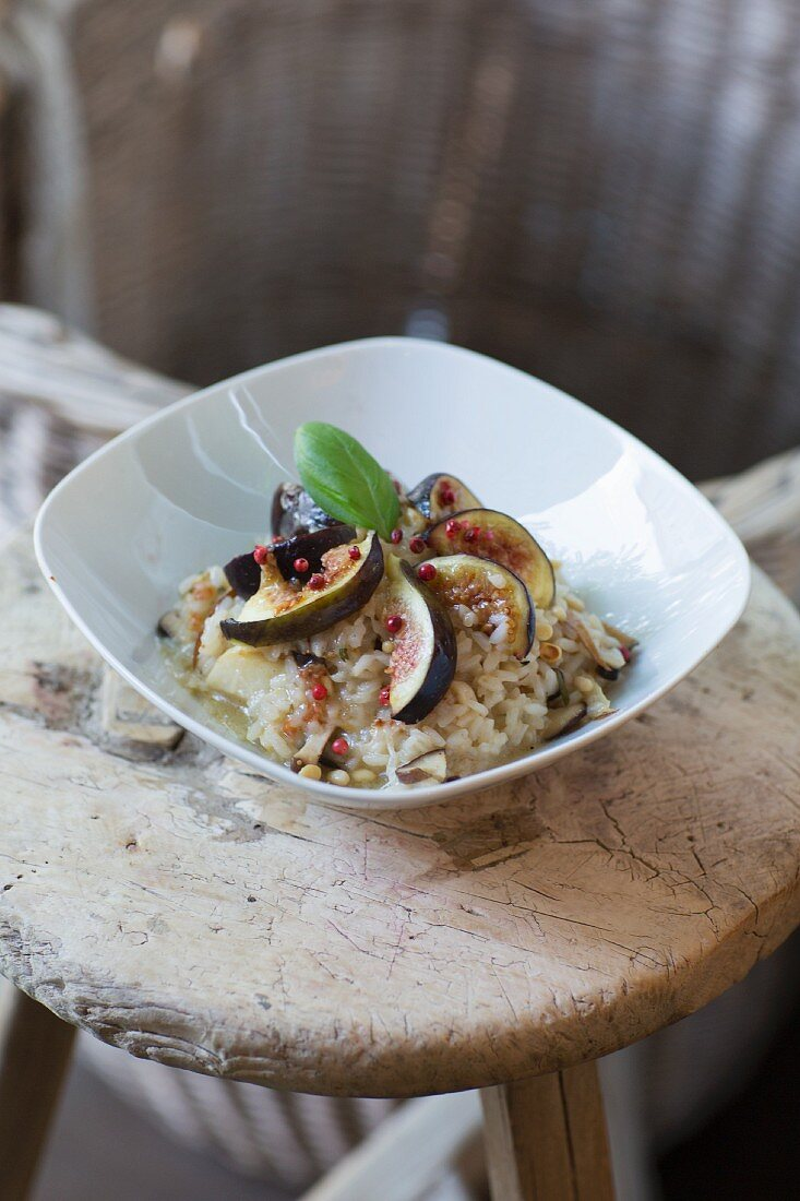 Lemon risotto with figs at TTCCH (Till the cows come home), Berlin