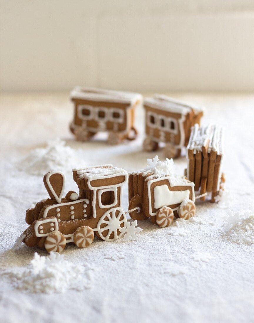 Lebkuchen-Eisenbahn zu Weihnachten