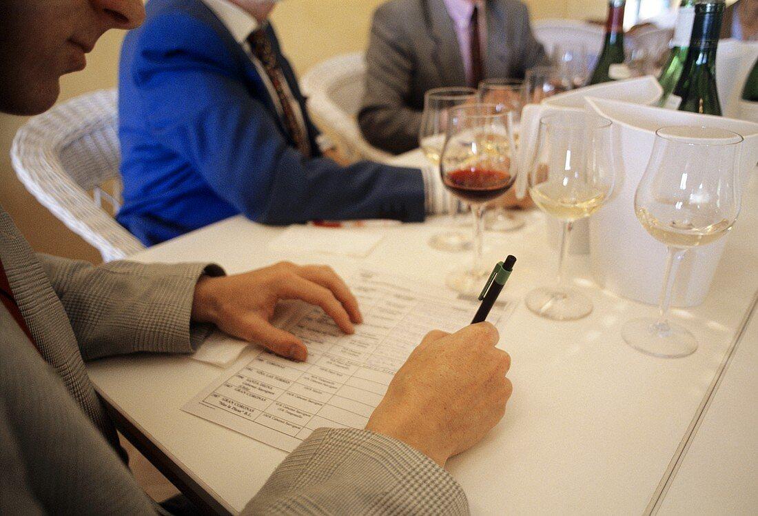 Tasting notes, wine must fulfil certain criteria