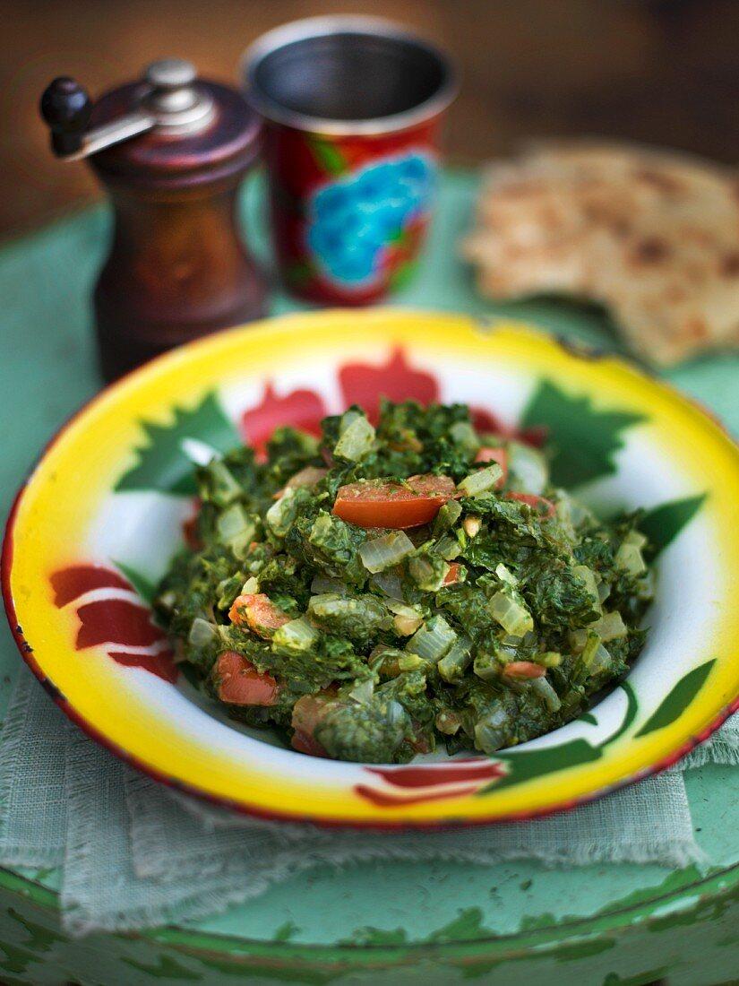 Punjabi style green vegetables