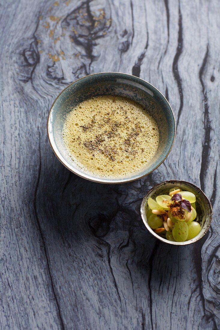 Vine leaf soup with grapes (Turkey)