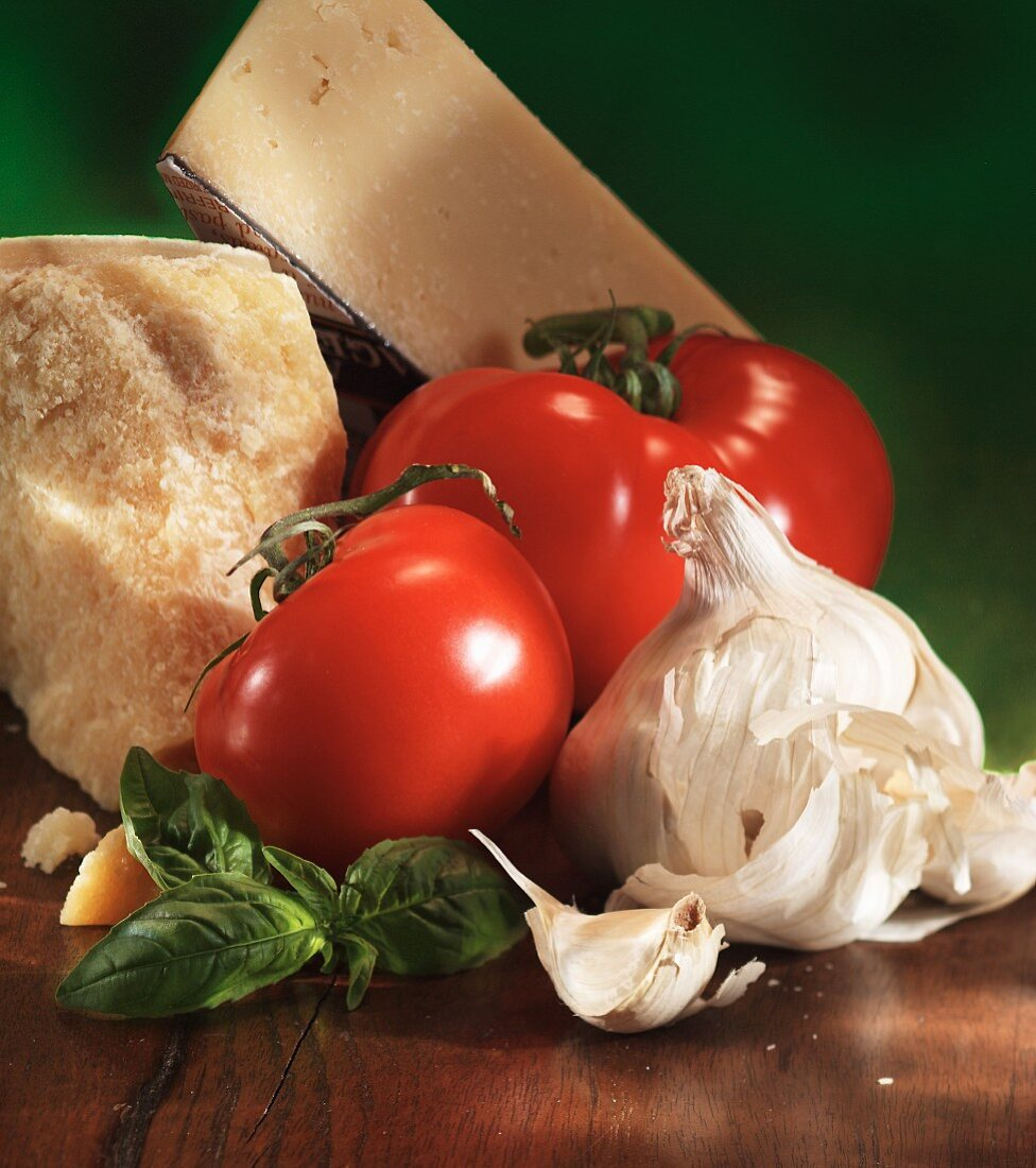 Still life with Italian ingredients