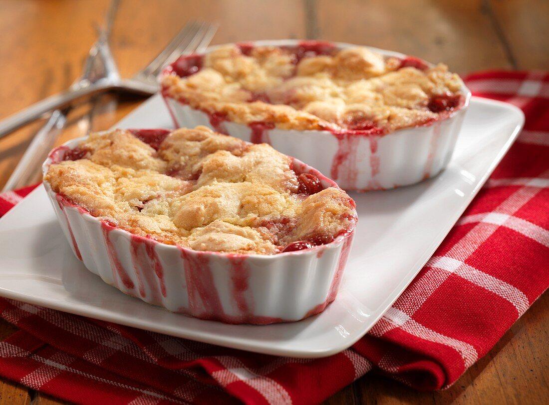 Cherry cobblers
