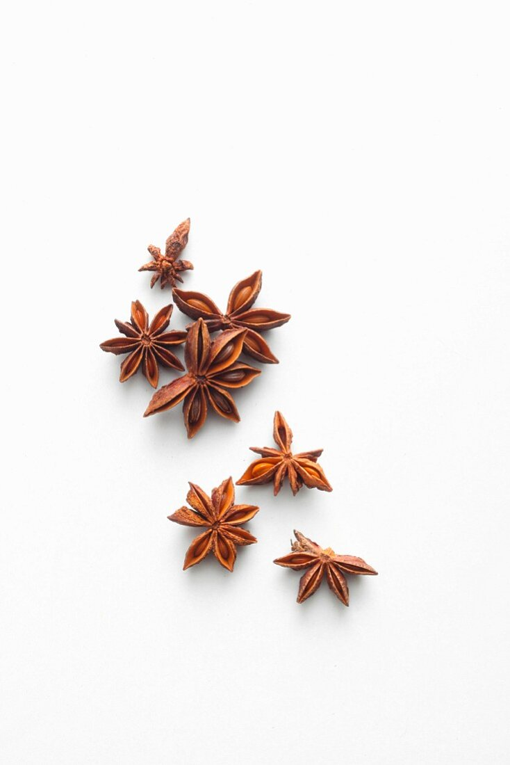Star anise, seen from above