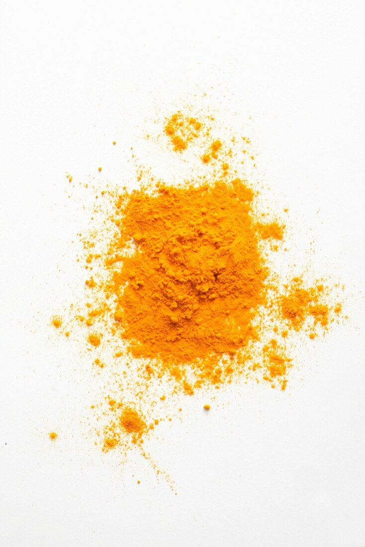 Turmeric powder seen from above