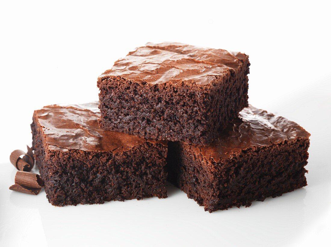 Three brownies