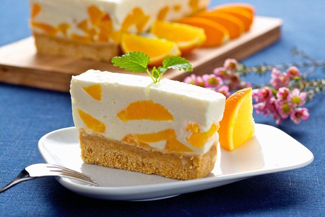 Quark and orange cake