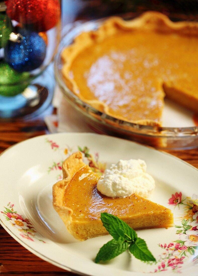 Pumpkin pie for Christmas