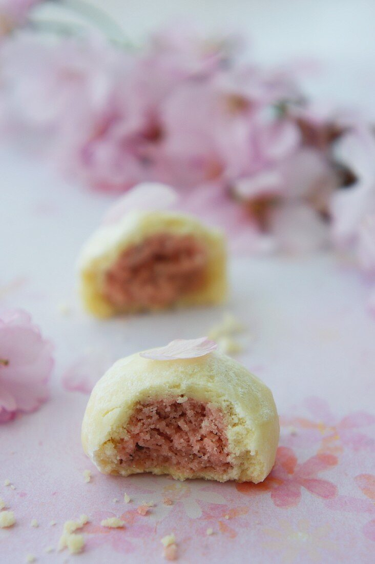 Sakura Wagashi (Japanese sweets for a cherry blossom festival)