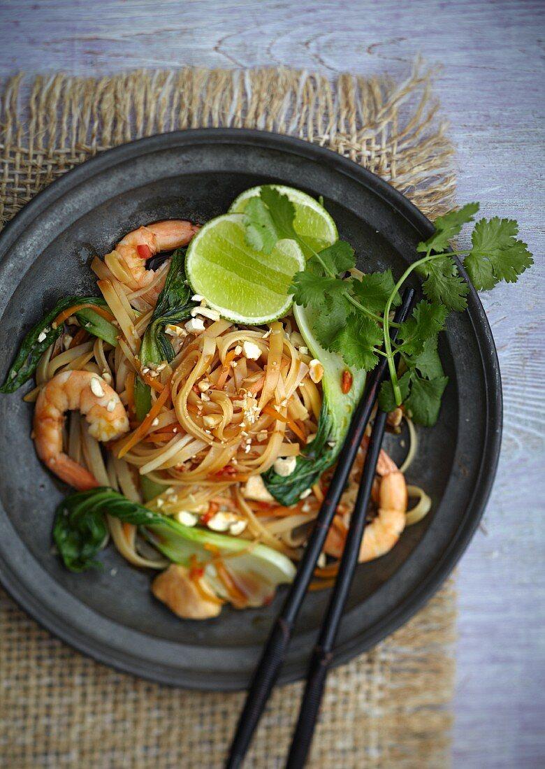 Pad Thai (traditional Thai noodle dish)