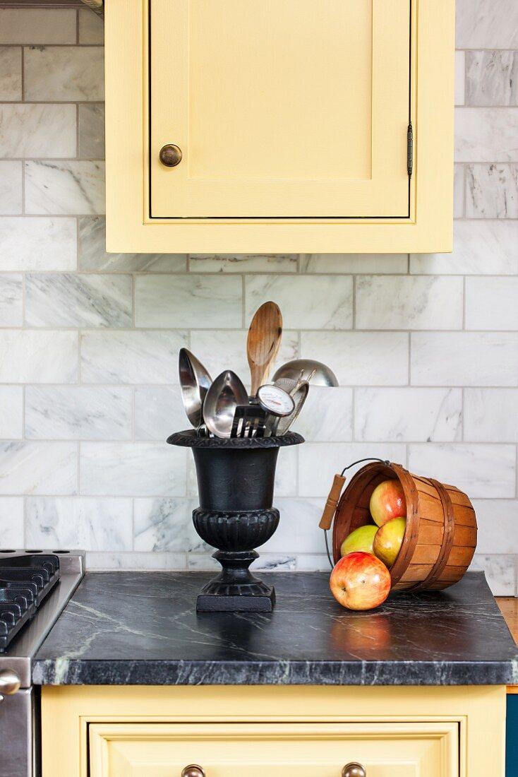 Apples in kitchen
