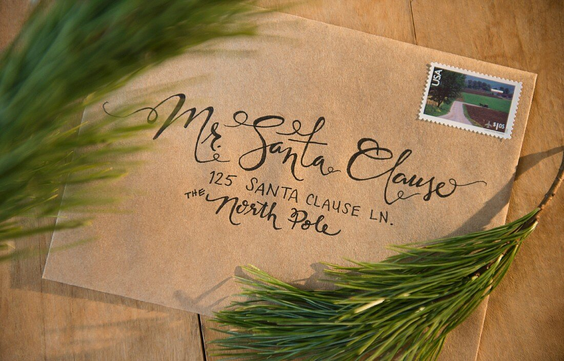 A letter addressed to Santa Claus