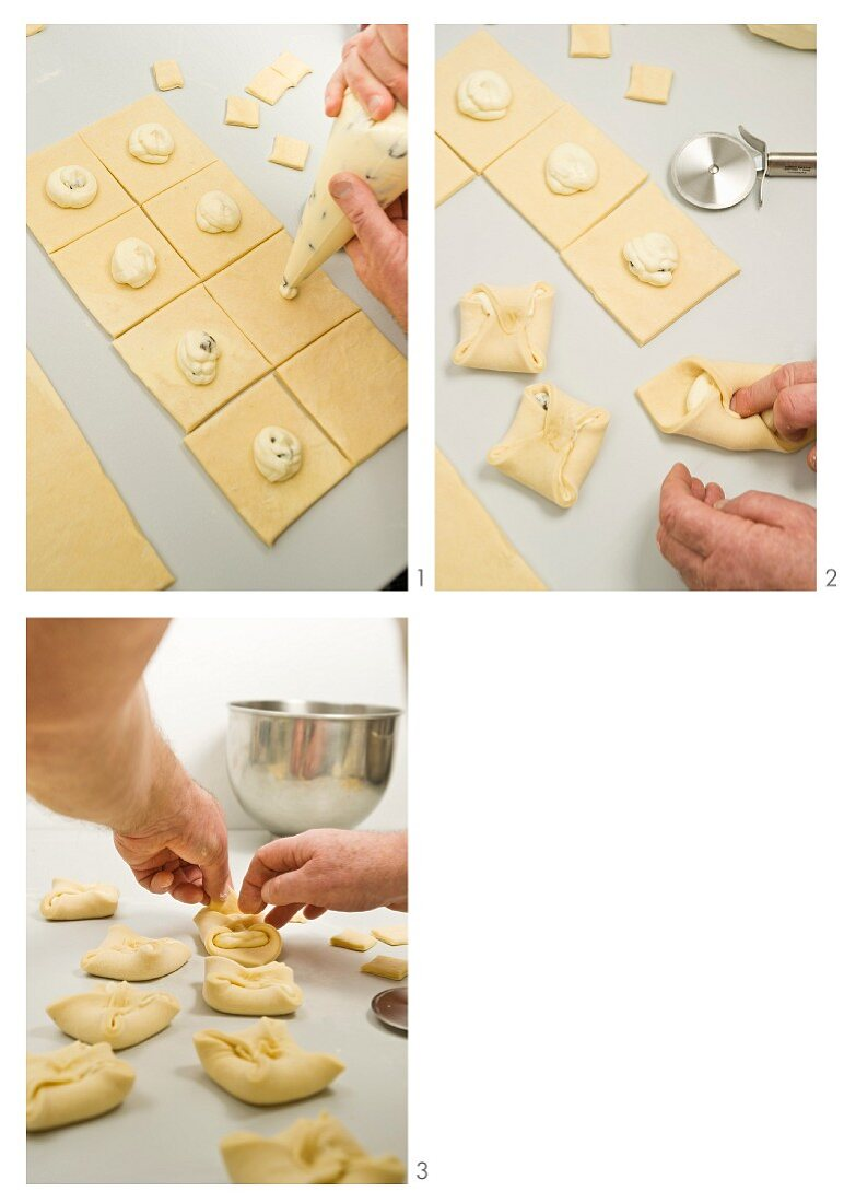 Making curd cheese turnovers