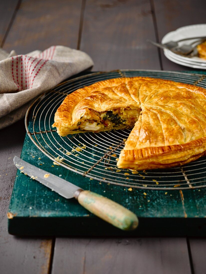 Pithiviers with chicken, spinach and ricotta
