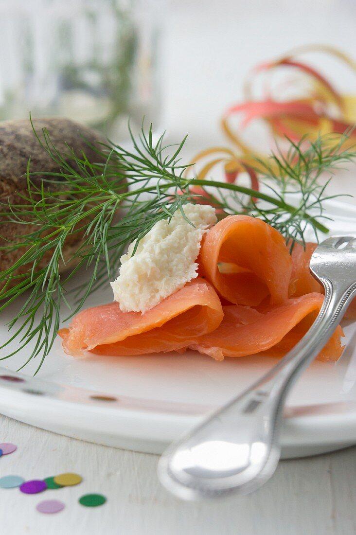 Smoked salmon and horseradish