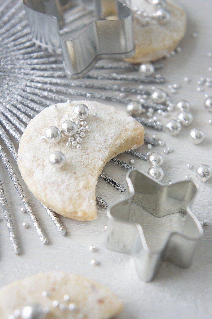 Vanilla cookies with sugar beads