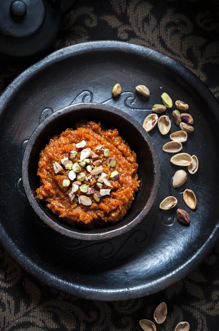 Vegan carrot halva (India)