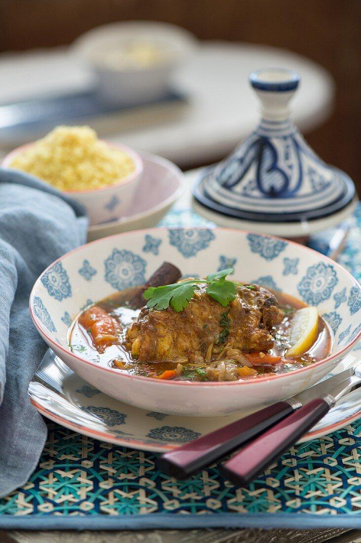 Lamb tagine with carrots and lemons (Morocco)