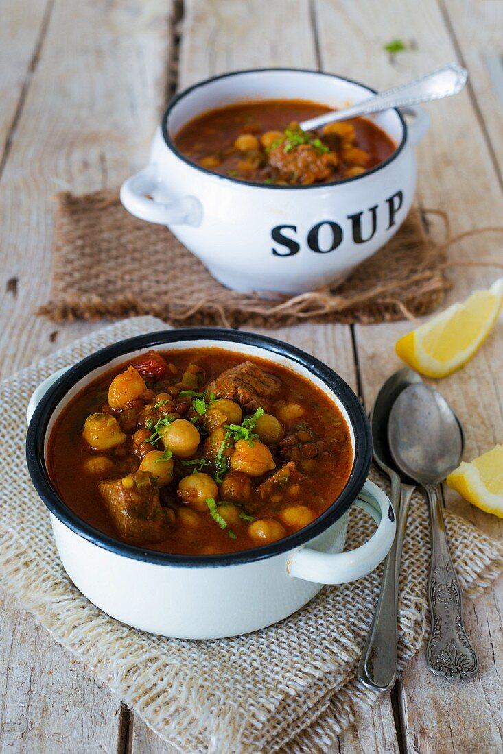 Harira (Moroccan soup for Ramadan)