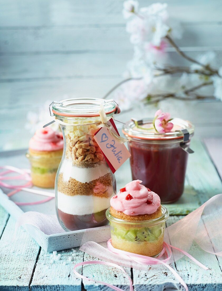 Various baking mixtures as gifts