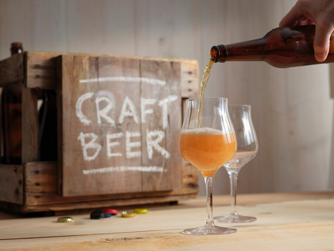 A craft beer tasting session with IPA (Indian Pale Ale)