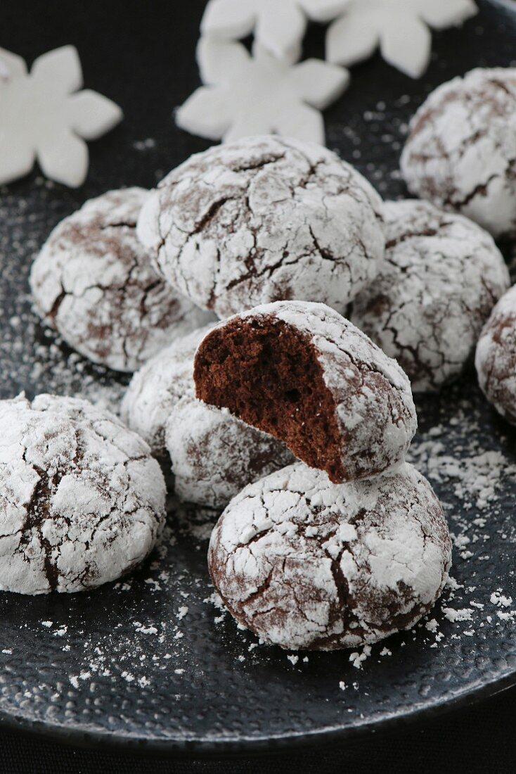 Gluten-free hazelnut and chocolate biscuits