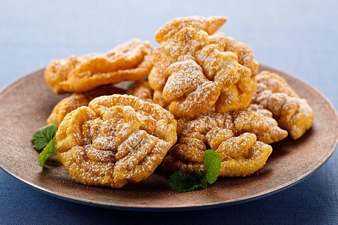 Doughnuts with icing sugar