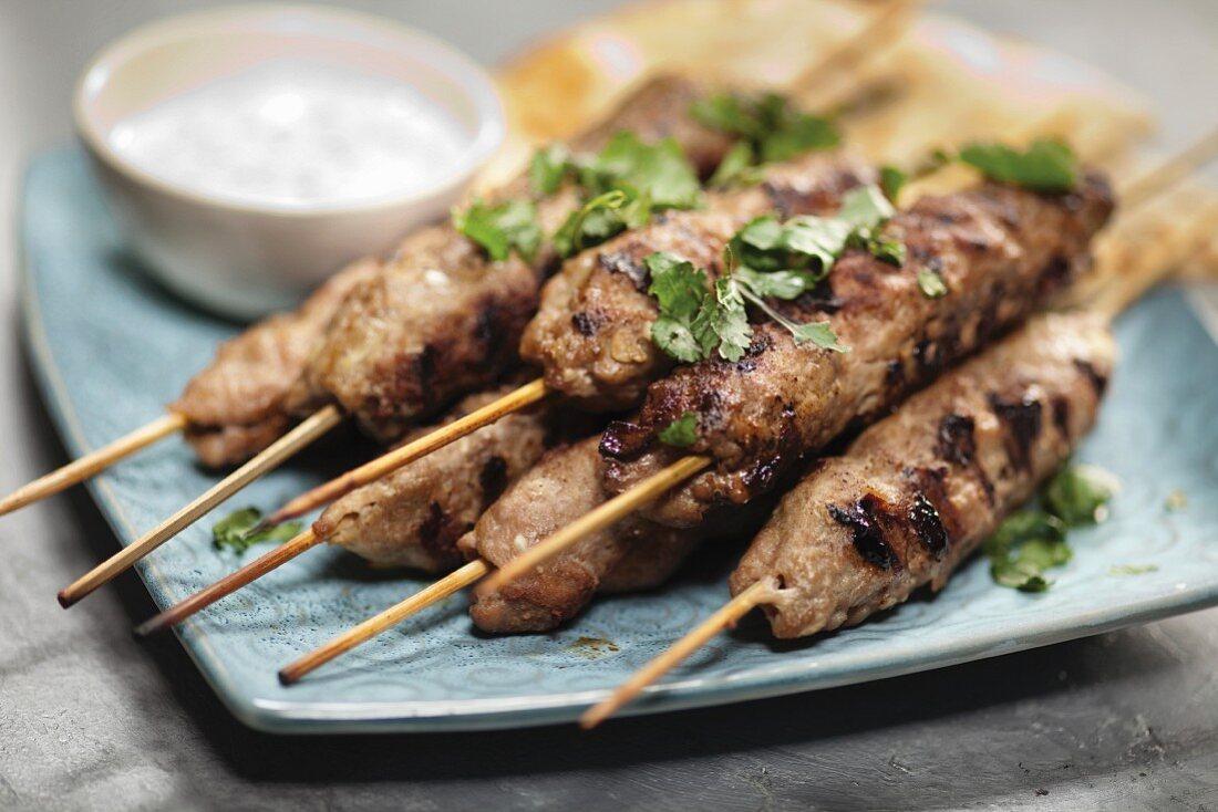 Sheesh kebabs (mincemeat skewers, Pakistan)